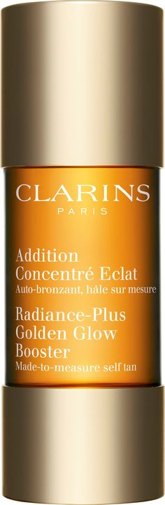 Clarins Radiance Plus Golden Glow Booster - add 3 drops to a dollop of face or body lotion to turn it into a self-tanner