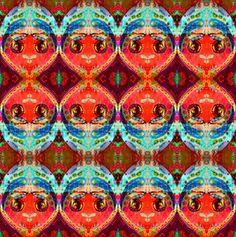 Kissy Face fabric by loriwierdesigns on Spoonflower - custom fabric
