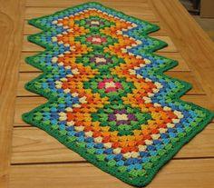 Camino Carpeta De Mesa Crochet