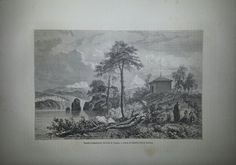 Antique French Engraving Temple in Russia Siberia by reveriefrance