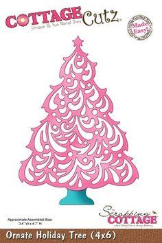 Cottage Cutz-Die-Ornate Holiday Tree
