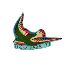 Todo Para Ti - Swallows - Bird - Tattoo - Iron on Patch - Swallow - Diy -Mexican Folk Art - Iron on Patches - Cotton Appliques Girl Gun Tattoos, One Word Tattoos, Bear Tattoos, Arrow Tattoos, Ankle Tattoo Small, Small Tattoos, White Tattoos, Ankle Tattoos, Tiny Tattoo