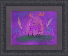 Purple Pony Framed Print featuring the digital art Purple Foal by Marti McGinnis