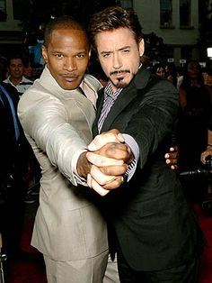 Jamie Foxx and Robert Downey Jr. - best pals in real life too.Tow of my favorite actor and I love the tango too Hollywood Actor, Hollywood Stars, Robert Downey Jr., Partner Dance, The Jacksons, Downey Junior, Papi, Dance Photos, Look At You