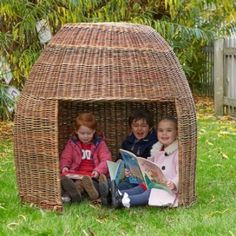 The Group Readers Pod (outdoor) Wicker is a larger group pod perfect for cosy conversations and a quiet reading space with friends. This pod will comfortably fit three to four children in. H1.3m x Dia1.2m. Check wicker regularly, trim loose/sharp bits. Outdoor Learning, Home Learning, Outdoor Play, Fun Learning, Outdoor Decor, Cosy Direct, Reading Den, Play Table, Wicker Furniture