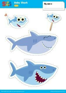 Shark Learn about family members with this Play Set for the Baby Shark video from Super Simple Songs.Learn about family members with this Play Set for the Baby Shark video from Super Simple Songs. Shark Activities, Toddler Activities, Decoration Creche, Shark Craft, Preschool Songs, Shark Party, Ocean Themes, Super Simple, Birthday Board