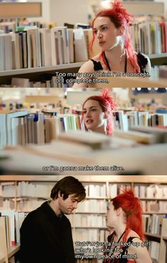 """""""Too many guys think I'm a concept, or I complete them, or I'm gonna make them alive.  But I'm just a fucked up girl who's looking for my own peace of mind."""" 