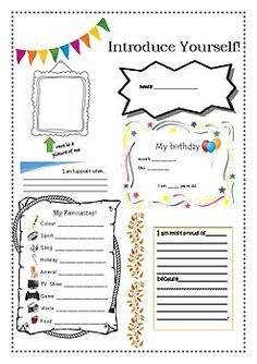 A great way to get to know your students! A worksheet designed for new teachers/pre-service teachers to use when going into a new classroom. All About Me Preschool, Preschool Writing, French Handwriting, All About Me Poster, Dental Images, New Classroom, Classroom Ideas, Jolly Phonics, Preschool Graduation