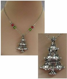 Silver Christmas Tree Pendant Necklace Jewelry Handmade NEW Accessories Fashion