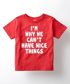 Take a look at this Heather Red 'Nice Things' Tee - Toddler & Kids today!
