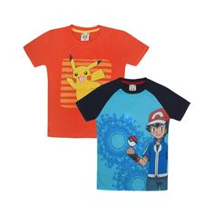 Jazzup Pokemon T-Shirt For Boys - Pack Of 2
