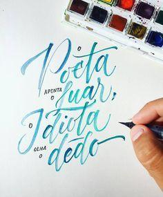 Handlettering - calígrafo brasileiro Pedro Marques;