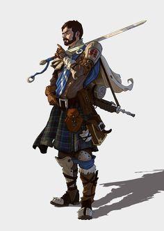 m Bard Bagpipes Sword backpack kilt