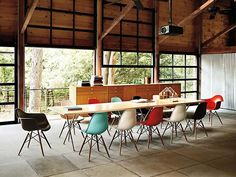 great gathering space- projector over head, and roll up glass garage doors are my FAVORITE!