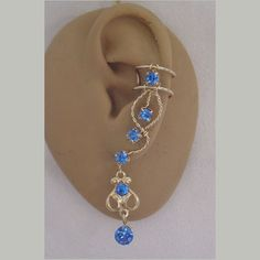 Ear Cuff Pair in Sapphire Rhinestone 99C in your by zannedelions