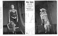 Miss Emmy and tattooed dog