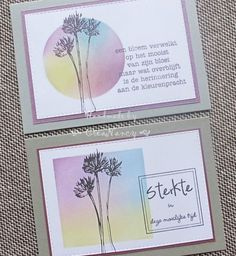 My creation (FJE) s: grief and strength tickets . Note Cards, Thank You Cards, Hand Made Greeting Cards, Stamping Up Cards, Card Making Techniques, Watercolor Cards, Sympathy Cards, Paper Cards, Creative Cards