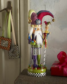 """Court Jester"" Nutcracker by MacKenzie-Childs at Neiman Marcus."