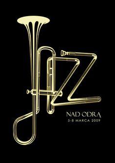 Постер к польскому джазовому фестивалю.