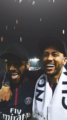 Dani Alves and Neymar Jr. Neymar Jr, Neymar Football, Neymar Brazil, Dani Alves, Football Is Life, Paris Saint, Fifa World Cup, Girls Dream, Psg