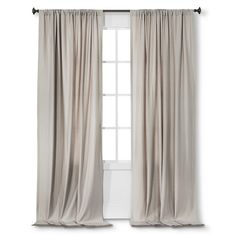Nate Berkus™ Fringed Herringbone Curtain Panel - Creamy Chai/Almond Cream