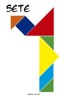 Tangram, Números com tangram, jogo, Raciocínio lógico, matemática, numerais