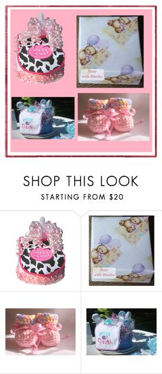 """""""Crocheted Baby Gifts"""" by nadya-mendik ❤ liked on Polyvore featuring beauty"""