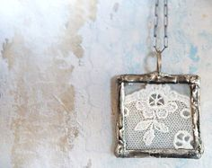 Antique French Lace Necklace Handmade by RenataandJonathan on Etsy