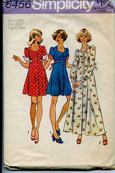dress patterns from the 70's