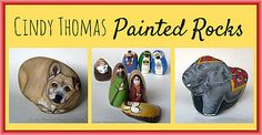 unique nativity sets, painted rocks, Pinterest, Flikr, High Plains Critters, Facebook, Cindy Thomas