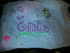 Decorate pillowcases with children's names and put gifts inside.  Great birthday or Christmas idea for kids. Creative wrapping that they will use again.   *Use glow in the dark paint! They'll love it!*