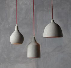 Concrete pendant  lamps by namuh                                                                                                                                                                                 More