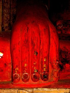 buddha touching the earth - photograph taken in burma by joan halifax