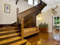 Timber balustrade, internal staircase