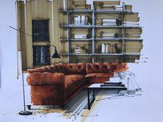 Interior skething #interiorsketcher #interiorsketch #draw #handrender #art #artsketch #markersketch #interiordesign #designbook…