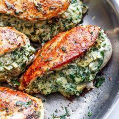 Spinach Artichoke Stuffed Chicken