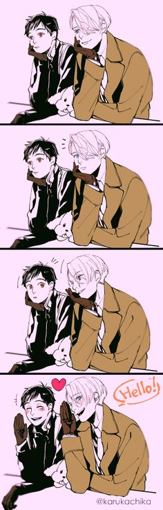 THIS IS SO BEAUTIFUL YOU HAVE NO IDEA I ALMOST SCREAMED #yuri #victor #victuri