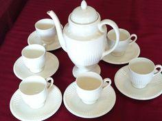 """Wedgewood """"Edme"""" pattern : Coffee Set"""