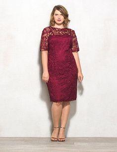 DressBarn RSVP Plus SIze Lace Sheath Dress