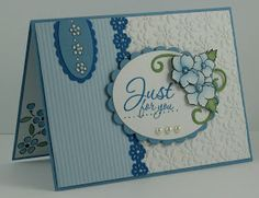 Layered flowers card