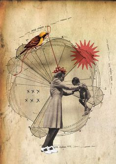 Rhed Fawell 'Radius' - Collage 2015