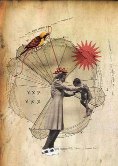 Rhed Fawell 'Radius' - Collage 2015