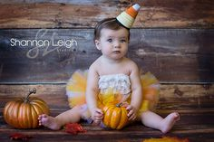Baby Halloween Costume Sweet Candy Corn Cutie Tutu Halloween Tutu With Matching Hat A Sweet Sweet Boutique ORIGINAL design. $55.00, via Etsy.