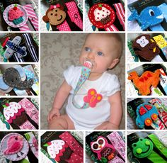 Baby Pacifier Clips, Baby Girl Pacifier Clip, Baby Boy Pacifier Clips, Cupcake, Owl, Car, Monkey and More - U Pick any 2 for 16.50