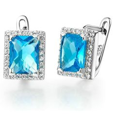 Bishilin Jewelry Sets Women Silver Plated CZ Heart Crystal Ring Pendant Necklace Earrings Set Size R 1//2
