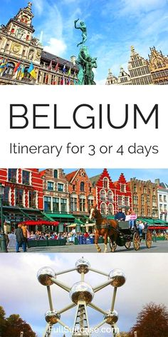Visiting Belgium for the first time and wondering where to go and how much time you need for the main highlights? This suggested itinerary for 3 or 4 days includes all the must-see places in Belgium… Europe Travel Tips, European Travel, Places To Travel, Travel Destinations, Travelling Tips, Europe Places, Traveling, Vacation Places, Travel Usa