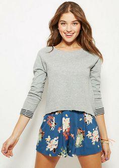 Double Knit Stripe Long-Sleeve - Tops - Clothing - dELiA*s YESYESYES