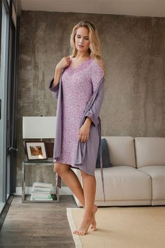 #Sleepwear you can feel good about: #sustainable & #sensationally soft ( Sleep dress, robe)