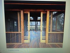 Screened in porch with sliding doors