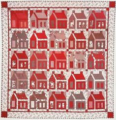 Free Schoolhouse Quilt Pattern | RED-WHITE-SCHOOLHOUSE-Quilt-Pattern-From-Magazine-Easy-Scrap-Friendly ...
